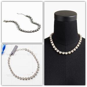 J.Crew Swarovski® Crystal Necklace Silver